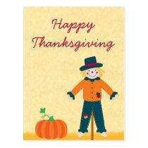 Autumn Field Thanksgiving Postcard