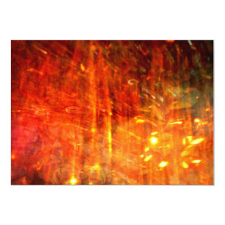 autumn fire abstract art 5x7 paper invitation card