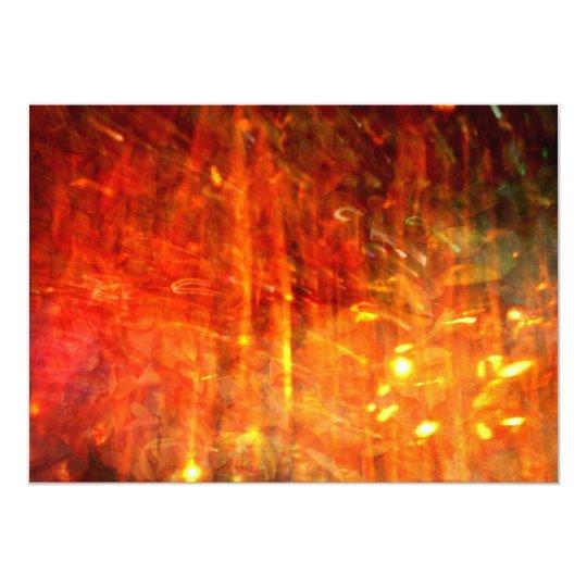 autumn fire abstract art card