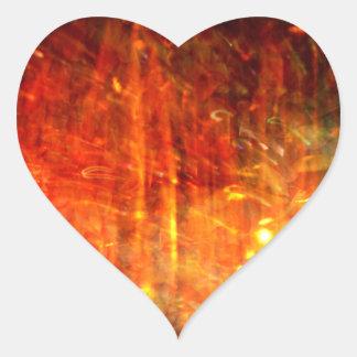 autumn fire abstract art heart sticker