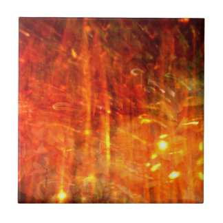 autumn fire abstract art small square tile