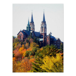 Autumn Fire at Holy Hill Poster