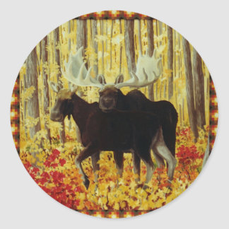 Autumn Fire Classic Round Sticker