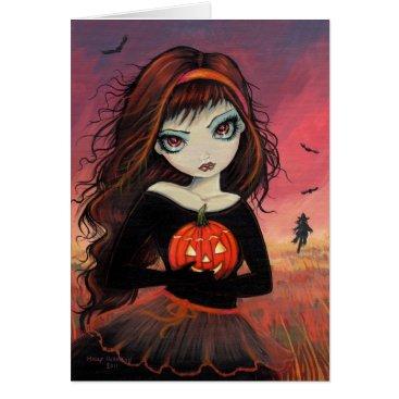 Halloween Themed Autumn Fire Halloween Greeting Card
