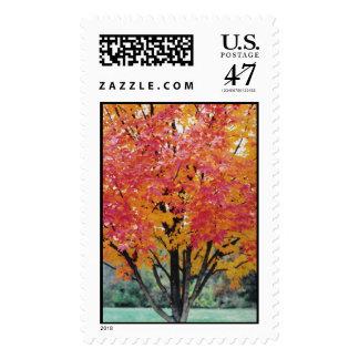 Autumn Fire Stamp