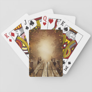 Autumn Fishing Pier Playing Cards