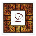 Autumn Flame Celtic Knotwork Wedding Invitation
