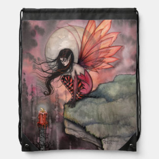 Autumn FlameFairy Fantasy Art Drawstring Bag