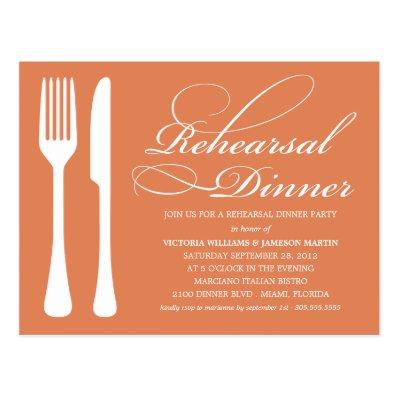 AUTUMN FLATWARE | REHEARSAL DINNER INVITE POSTCARD