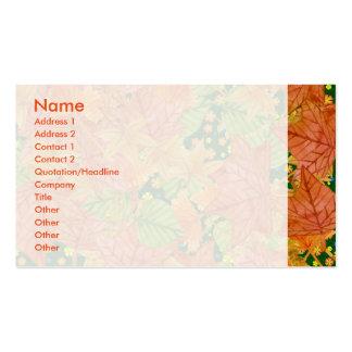 Autumn floor business card