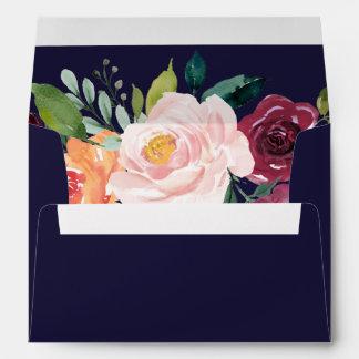 Autumn Floral Addressed Wedding Invitation Envelope