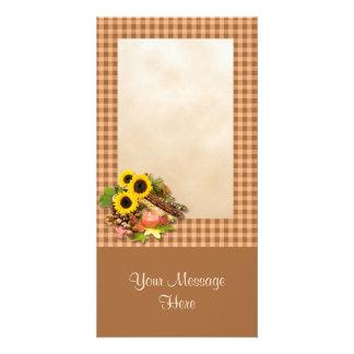 Autumn Floral Arangement Card