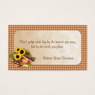 Autumn Floral Arangement Info Business Card