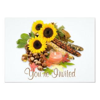 "Autumn Floral Arangement Invitations 5"" X 7"" Invitation Card"