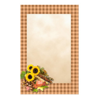 Autumn Floral Arangement Stationery