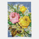 Autumn Floral Bouquet Watercolor Kitchen Towels