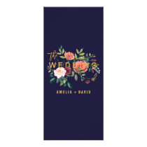 Autumn Floral Dinner Menu Card