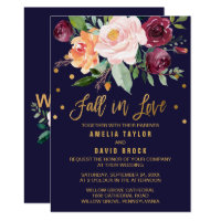 Autumn Floral | Fall In Love Wedding Invitation