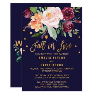 Autumn Floral | Fall In Love Wedding Invitation