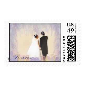 Autumn Floral Forever Wedding Postage Stamp