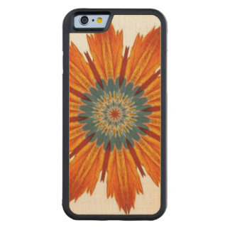 Autumn Floral Kaleidoscope Carved Maple iPhone 6 Bumper Case