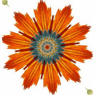 Autumn Floral Kaleidoscope Cutout