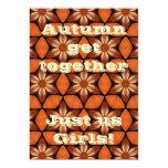Autumn floral kaleidoscope party 5x7 card