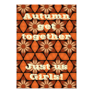 Autumn floral kaleidoscope party 5x7 5x7 paper invitation card