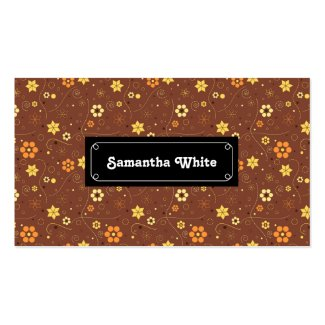 Autumn floral pattern design Double-Sided standard business cards (Pack of 100)