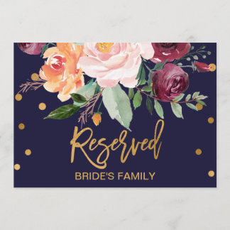 Autumn Floral Reserved Sign