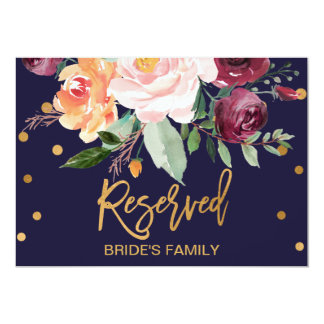 Autumn Floral Reserved Sign Invitation