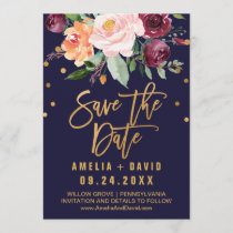 Autumn Floral Save the Date