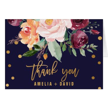 Toddler & Baby themed Autumn Floral Thank You Card