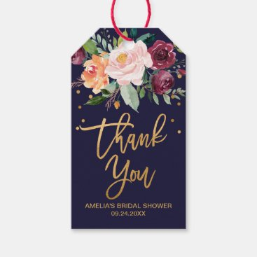 Toddler & Baby themed Autumn Floral Thank You Gift Tags
