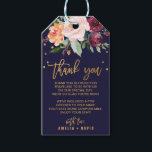 "Autumn Floral Thank You Wedding Welcome Bag Gift Tags<br><div class=""desc"">These autumn floral thank you wedding welcome bag gift tags are perfect for a fall wedding. The design features a stunning bouquet of blush, orange peach, and marsala burgundy flowers with faux gold foil typography and confetti. Personalize the gift tags with a thank you message and your names. Please Note:...</div>"