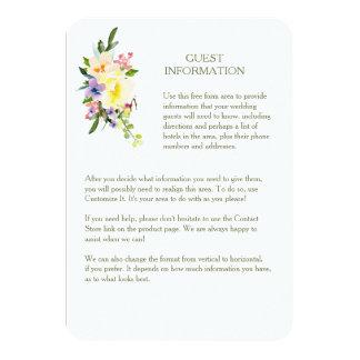 Autumn Floral Wedding Guest Information Insert Card