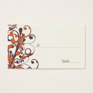 Autumn Floral Wedding Place or Escort Cards