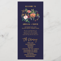 Autumn Floral Wedding Program