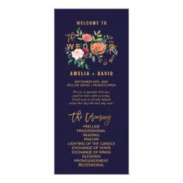 Autumn Floral Wedding Program