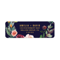 Autumn Floral Wedding Return Address Label