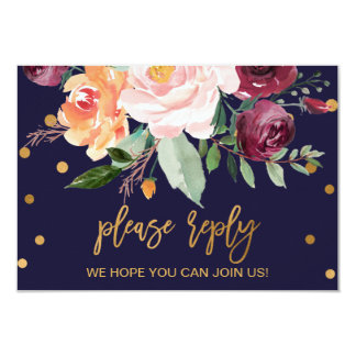 Autumn Floral Wedding Website RSVP Invitation