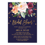 Autumn Floral With Wreath Backing Bridal Shower Card at Zazzle