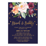 Autumn Floral With Wreath Backing Brunch & Bubbly Card at Zazzle