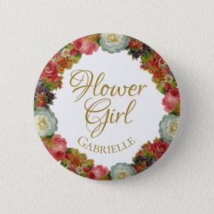 5c1d1d803 Red Rose Name Buttons & Pins - Decorative Button Pins | Zazzle