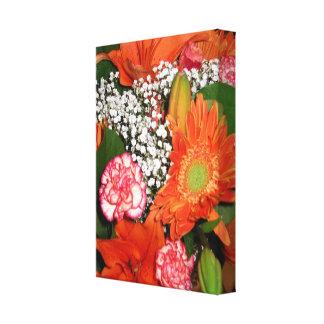 Autumn Florals Wrapped Canvas Stretched Canvas Prints