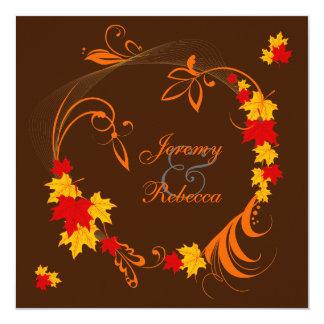 Autumn Flourish Wedding Personalized Invitation