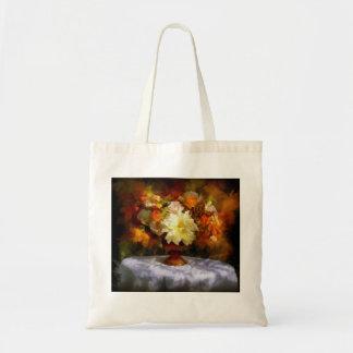 Autumn flower arrangement tote bag
