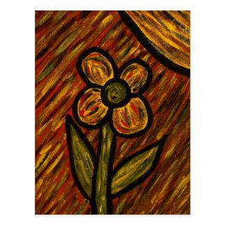 Autumn Flower Art Postcard