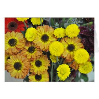 Autumn Flower Bouquet Card