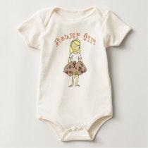 Autumn Flower Girl Baby Bodysuit